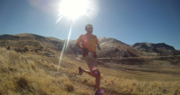 Karl Melzer running on Antelope Island