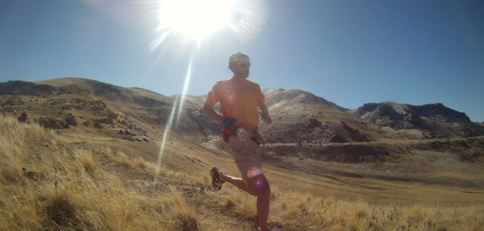 Karl Melzer running on Antelope Island