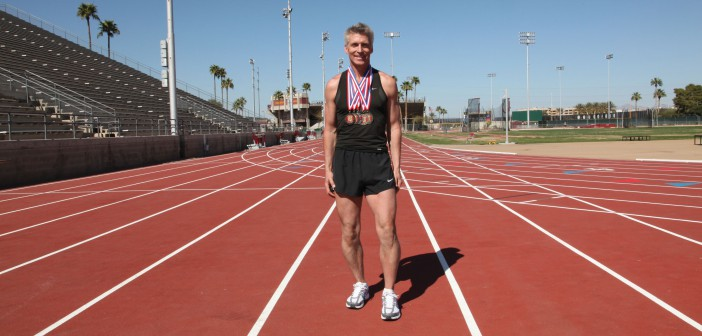 Eric Johnson and his medals