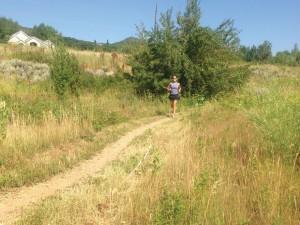 Photo of Editor Jenny Willden running