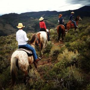 Photo of horseback riding