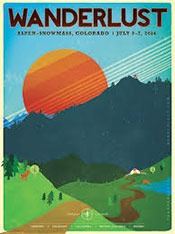 Logo image for the Wanderlust Festival, in Aspen-Snowmass, Colorado 2014