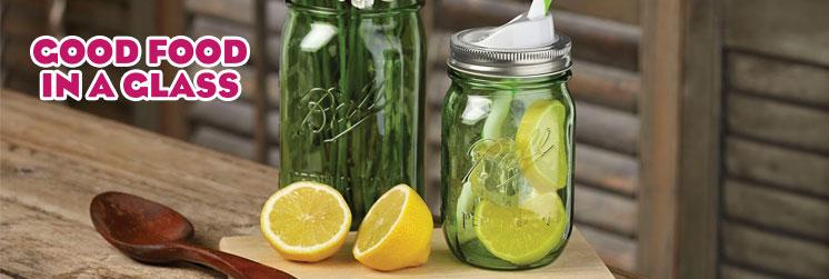 Photo if food in a mason jar