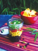 Photo of The Black Bean and Corn Salad jar