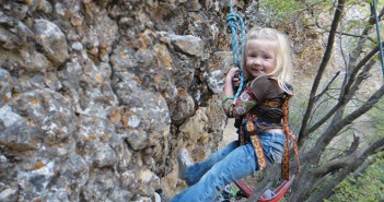 Photo of a child climbing