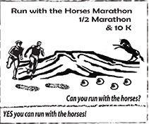 Logo for Run with the Horses Marathon