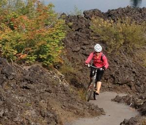 Photo of a mountain biker