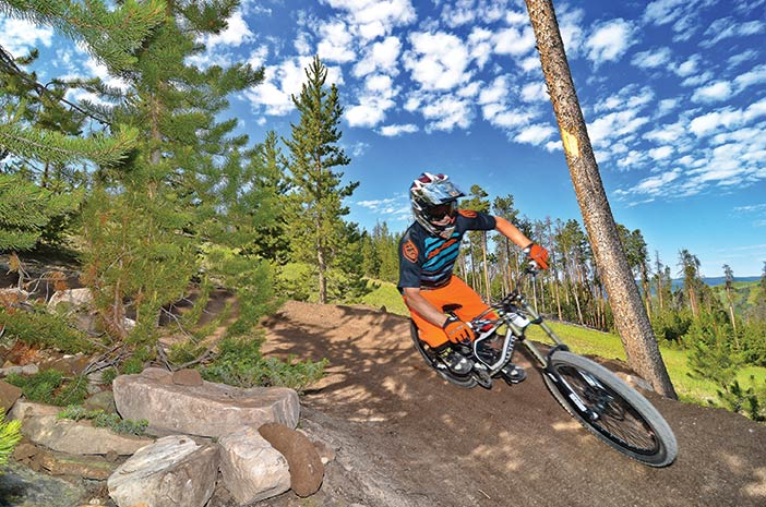 Photo of mountain biker at Granby Ranch Bike Park