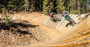 Photo of mountain bikers at Trestle Bike Park