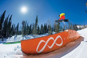 Photo of snowboarder at the Canyons Resort
