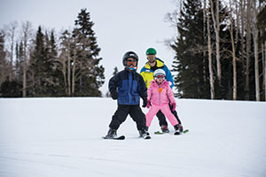Photo of skiers at Eagle Point Resort