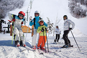 photo of skiing family at Nordic Valley Resort