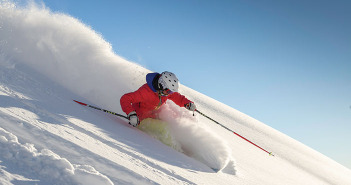 Photo of a skier at Snowbird resort