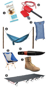 photo of backcountry gear