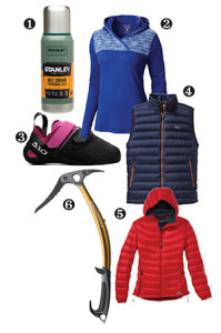 photo of gear for climbers