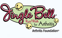 logo for the jingle bell run