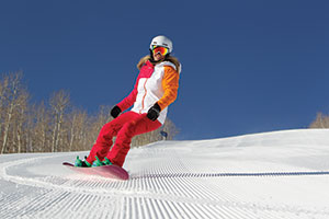 photo of snowboarder at Park City resort