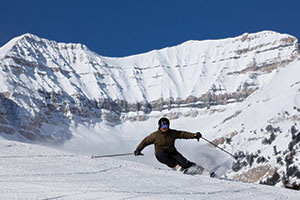 Photo of skier at Sundance Resort