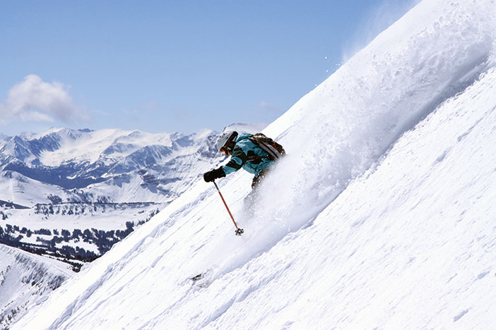 Photo of a skier at Big Sky Resort