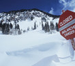 photo of an avalanche sign