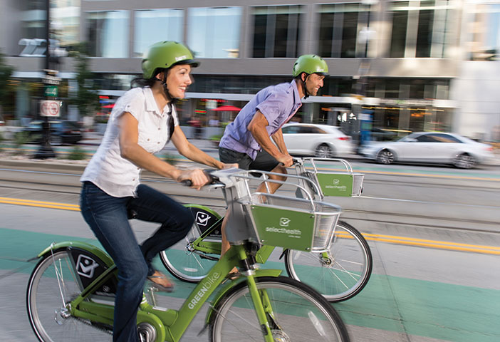 Photo of GREENbike bikers