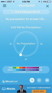 Accuweather Minutecast app image