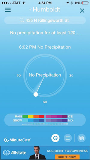 Accuweather Minutecast app image