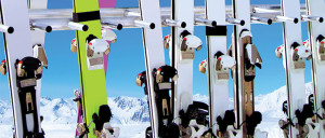 Photo of a ski rack