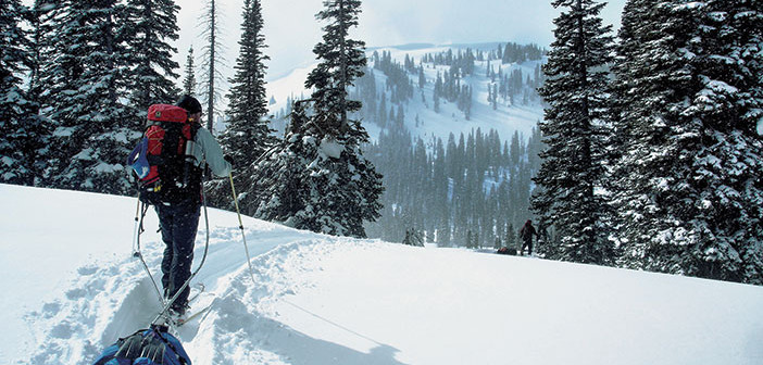 Photo of snowshoer