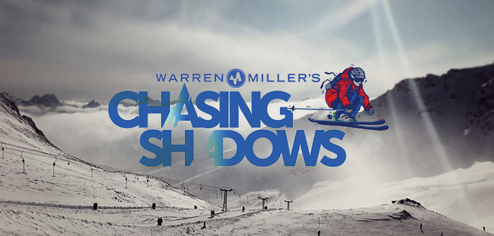 warren miller's chasing shadows logo