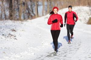 Winter running photo