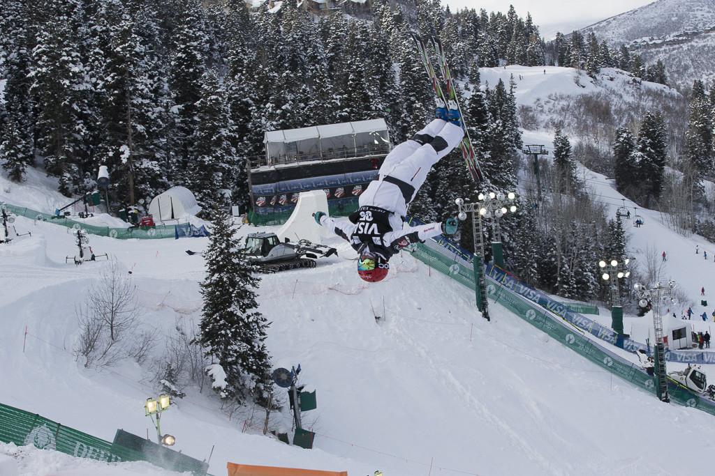 Deer Valley World Cup Mogul ski jumper