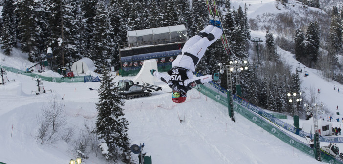 Deer Valley World Cup Mogul ski jumper