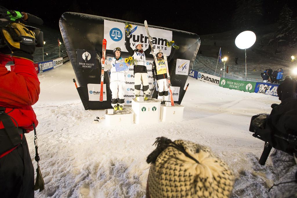 Visa Freestyle World Cup podium