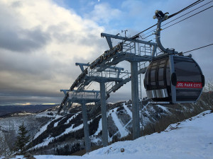 A Park City gondola at mountain top
