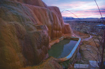hot springs tub and landscape