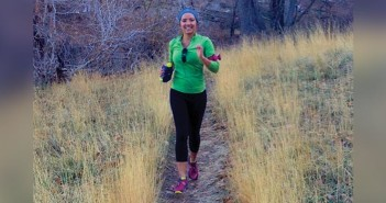Editor Jenny Willden on a running trail