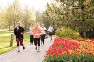 Tulip Festival half marathon runners