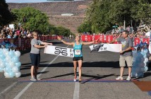 marathon runner Amber Green finishes the St. George marathon
