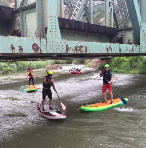 Provo River stand up paddleboarding.