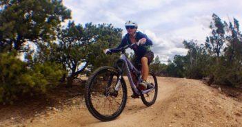 Lindsay Minck Mountain Biking in Santa Fe