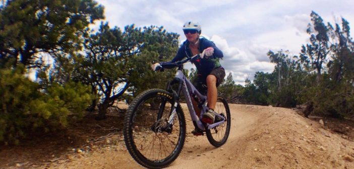 Lindsay Minck Mountain Biking in Santa Fe