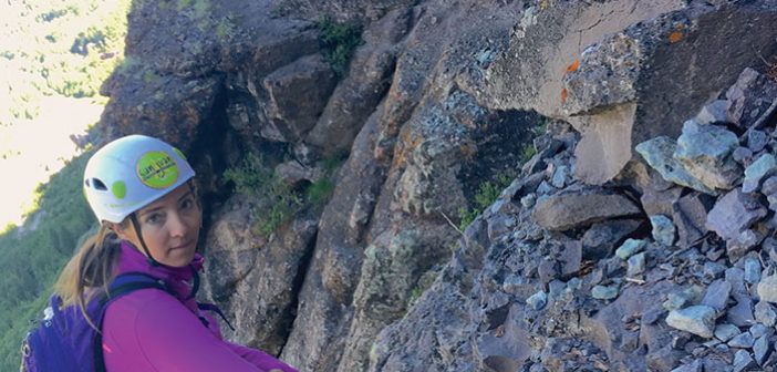 Editor Jenny Willden at Via Ferrata