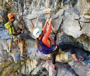 2 Climbers on the Via Ferratas