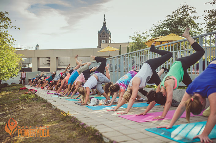 Power Yoga Women in Salt Lake City