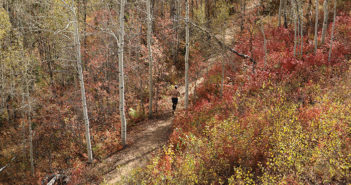 On the course of Park City's North Face Endurance Challenge.