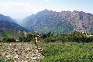 Female trail runner at Snowbird resort