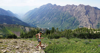 Female trail runner at Snowbird resort