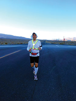Cory Reese running in the Badwater
