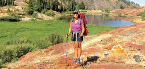 Editor Jenny Willden Backpacking at Lake Blanche